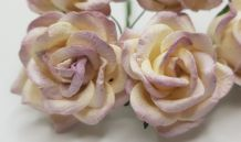 PALE LILAC IVORY GRANDIFLORA (3.5 cm) Mulberry Paper Roses